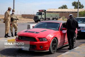 عکس/ ممنوعیت ورود و خروج خودروها در اهواز