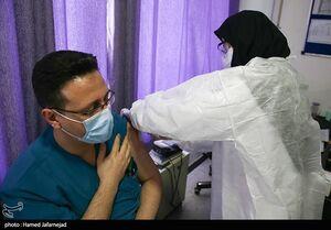 عکس/ فاز دوم واکسیناسیون کادر درمان