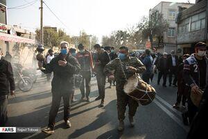عکس/ تشییع پیکرپاک دو شهید گمنام در تهران
