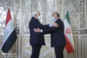 وزیر خارجه عراق با ظریف دیدار و گفتگو کرد