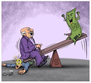 عکس/کاریکاتور «قیمت دلار»