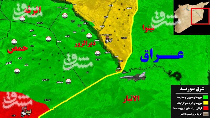 جزئیات جدید از حملات هوایی تروریستهای آمریکایی به پایگاههای جبهه مقاومت در جنوب سوریه/ «جو بایدن» در عراق به دنبال چیست؟ + نقشه میدانی و عکس