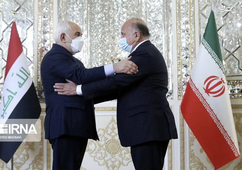 گزارش توییتری ظریف از دیدار با وزیر خارجه عراق