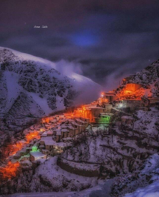 """عکس/ یک شب زیبای زمستانی در """"دولاب"""""""