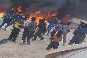جانباختن حداقل 7 نفر در آتش سوزی اردوگاه الهول در سوریه - کراپشده