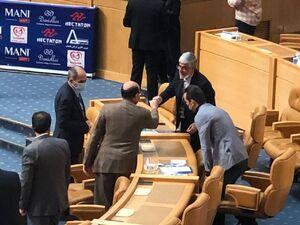 عکس/ خوش و بش معاون وزیر با کریمی و هاشمی