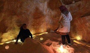 عکس/ بازگشایی اولین غار نمکی مصنوعی لیبی