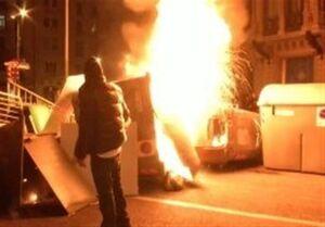 اعتراضات در اسپانیا به خشونت کشیده شد