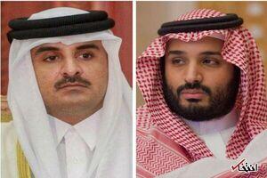 امیر قطر تلفنی با ولیعهد سعودی گفتگو کرد