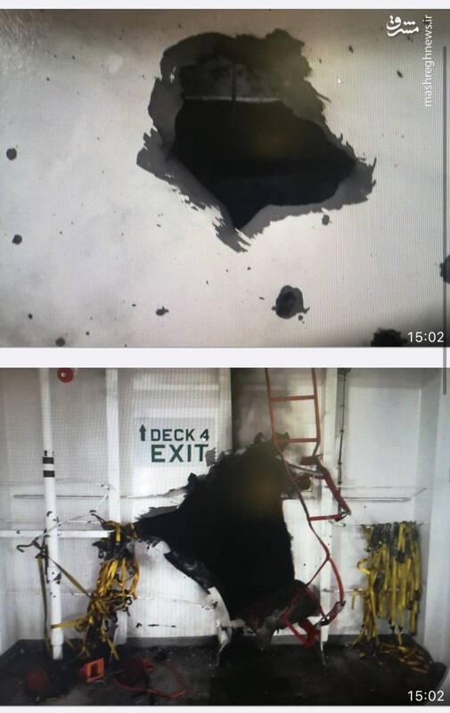 نخستین تصویر ماهوارهای از کشتی جاسوسی اسرائیل در دریای عمان / ادعای مقامات صهیونیست: از دو جهت هدف حمله موشکی قرار گرفتیم +تصاویر