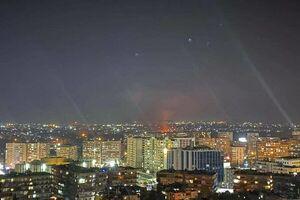 مقابله پدافند هوایی سوریه با اهداف متخاصم در آسمان دمشق
