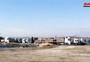 ادامه سرقت ذخایر غذایی مردم سوریه از سوی نظامیان اشغالگر آمریکایی