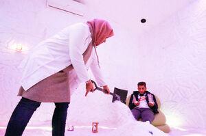 عکس/ درمان با نمک در لبنان