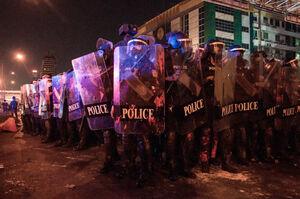 عکس/ درگیری پلیس تایلند با معترضان