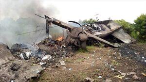عکس/ سقوط هواپیما در جنوب سودان با ۱۰کشته