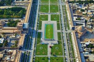 تصویر هوایی زیبا از میدان نقش جهان