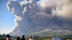 فیلم/ لحظه وحشتناک فوران آتشفشان