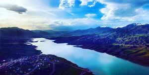 عکس/ نمایی دیدنی از سد طالقان