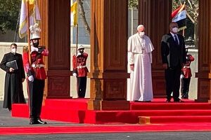 رئیسجمهور عراق با پاپ فرانسیس دیدار کرد - کراپشده