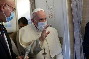 فیلم/ نخستین دیدار پاپ با مقامات مذهبی مسیحی در عراق
