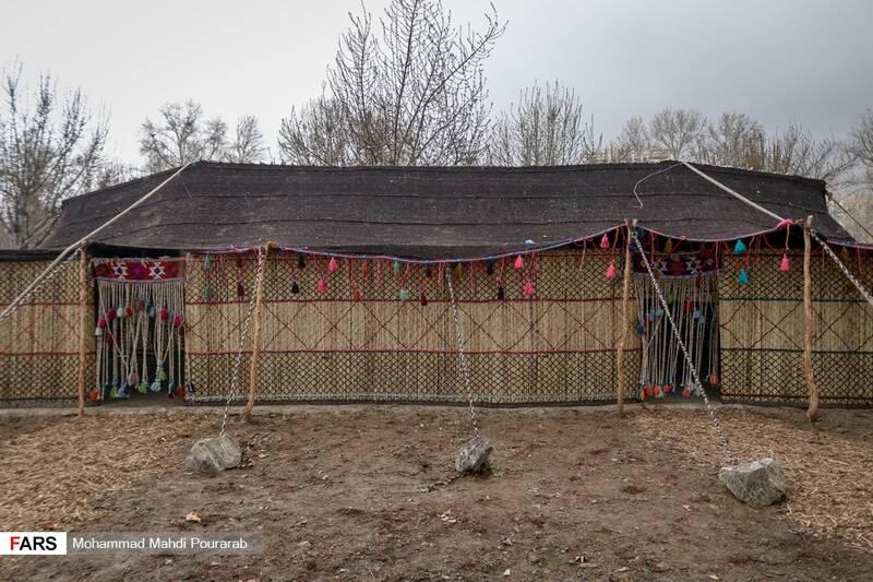 روستای عشایر بختیاری به مساحت 1000 متر مربع