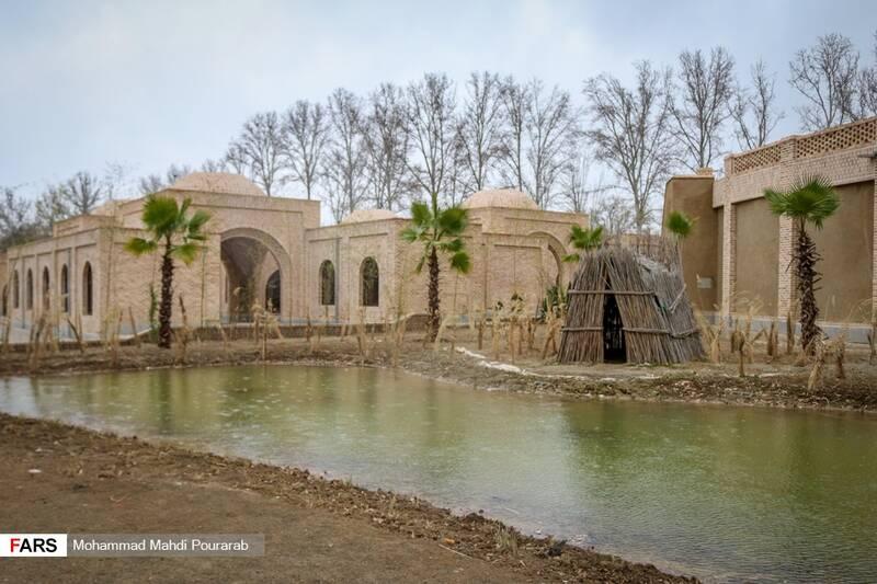 محوطه روستای خوزستان به مساحت 2500 متر مربع در پارک ملی ایران کوچک
