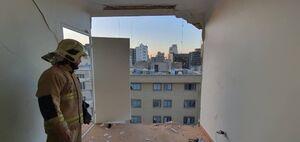 عکس/ انفجار یک ساختمان براثر نشت گاز