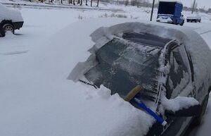 عکس/ میزان بارش برف در آذربایجان شرقی