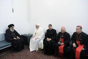 تصاویری از دیدار پاپ با آیتالله سیستانی