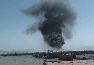 آتشسوزی دوباره در گمرک مرزی افغانستان با ایران +عکس و فیلم