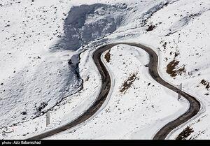 عکس/ بارش برف در ارتفاعات الیگودرز در لرستان