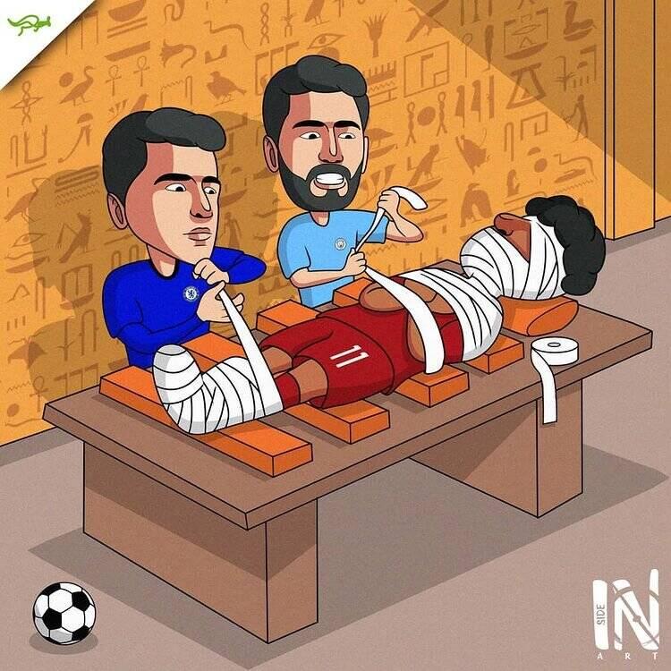 کاریکاتور/ مهاجمان لیگ برتر محمد صلاح رو مومیایی کردند!