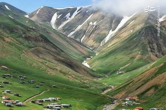 تصویرهوایی از ارتفاعات تالش در گیلان