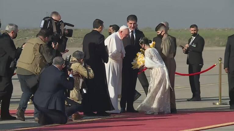 در سفر پاپ به منطقه کردستان عراق چه گذشت؟ +عکس