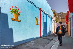 عکس/ کوچههای رنگی تهران