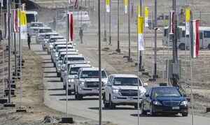 عکس/ کاروان اسکورت پاپ در عراق