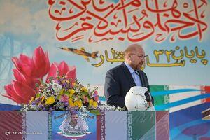 عکس/ قالیباف در مراسم تشییع پیکر پاک شهید «بیک محمدی»