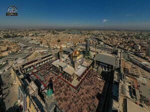 تصویر هوایی از حرم شریفین کاظمین