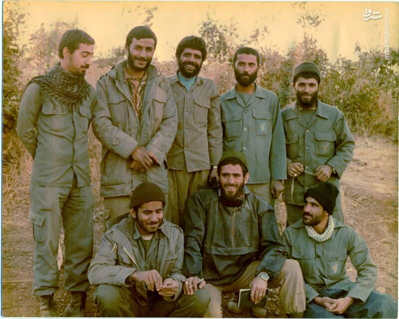 شهید «حاج محمدابراهیم همت» در کنار شهیدان عباس ورامینی، عباس کریمی و سید محمدرضا دستواره