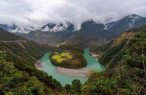 عکس/ نمایی از طبیعت بکر در چین