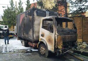 آتشسوزی خاور حامل بنزین در آجودانیه + عکس