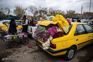 بازار گل در آستانه ی سال نو