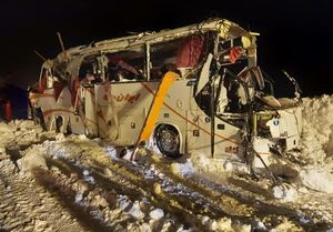فوت یک فوتبالیست در واژگونی اتوبوس در چالوس