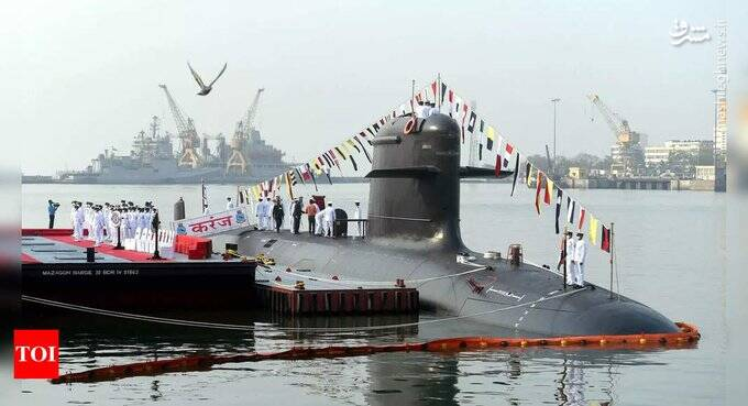 زیردریایی جدید وارد خدمت هند شد+عکس