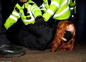 تجمع اعتراضی در جنوب لندن