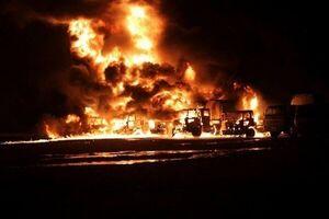 جلوگیری از قاچاق نفت سوریه با حمله موشکی ارتش روسیه
