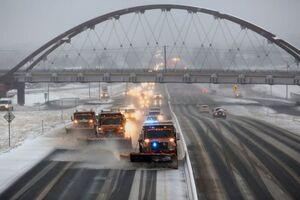 طوفان زمستانی در غرب آمریکا