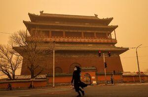 فیلم/ طوفان شن در آسمان پکن