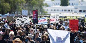 تظاهرات هزاران معترض به آزار جنسی زنان در استرالیا +عکس
