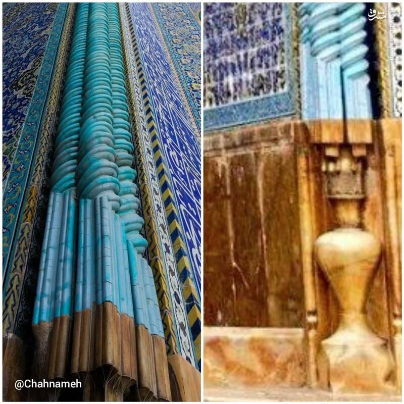 کاربرد گلدانی در معماری مساجد تاریخی